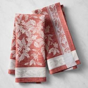 Williams-Sonoma - Holly Jacquard Tea Towels (2)